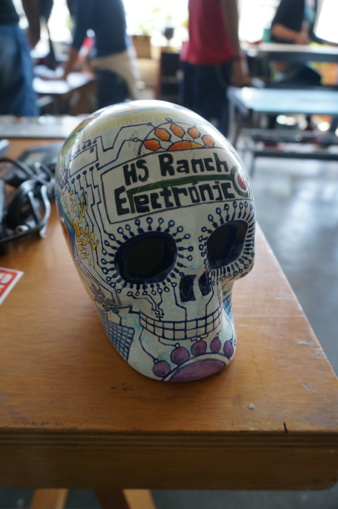The piggybank at Rancho Electronico, for when one wishes to make a monetary contribution. Photo by Xin Cheng