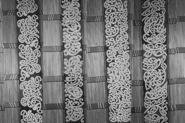 Te Hau ki Turanga Kowhaiwhai at Te Papa Museum. Mangatu Incorporation Collection