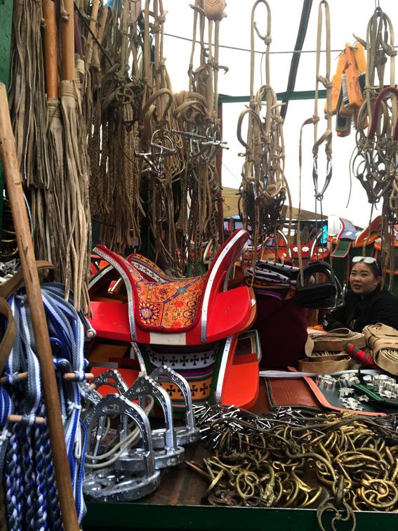 One of the stalls at Naran Tuul. Photo by Sena Park