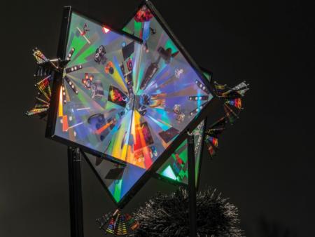 Haegue Yang, The Intermediate – Hairy Tele Digi-Big-Bang Fanned Out, 2018, (detail). Courtesy of the artist. Photo Carl Warner